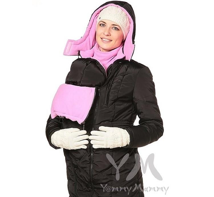 черно-розовая-слингокуртка